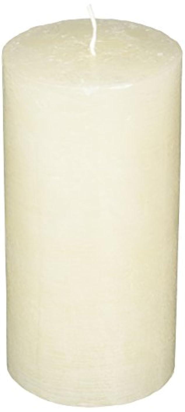 素人池バイソンラスティクピラー3×6 「 シルキーホワイト 」 キャンドル A4890020SWH