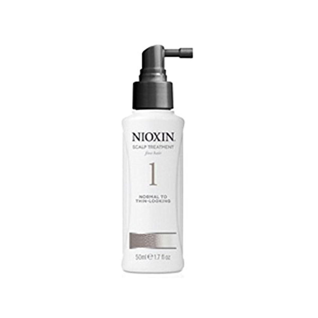 範囲統計ファンネルウェブスパイダーNioxin System 1 Scalp Treatment For Normal To Fine Natural Hair (100ml) - 細かい自然な髪への通常のためニオキシンシステム1スカルプトリートメント(...