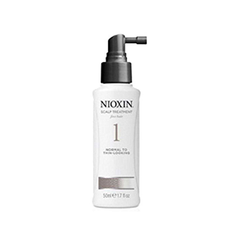 ポルティコ偶然ミットNioxin System 1 Scalp Treatment For Normal To Fine Natural Hair (100ml) - 細かい自然な髪への通常のためニオキシンシステム1スカルプトリートメント(...