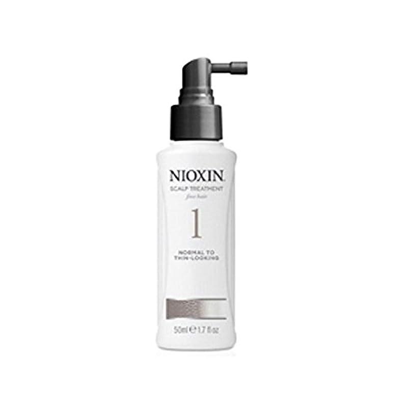 山積みの固執示すNioxin System 1 Scalp Treatment For Normal To Fine Natural Hair (100ml) - 細かい自然な髪への通常のためニオキシンシステム1スカルプトリートメント(...