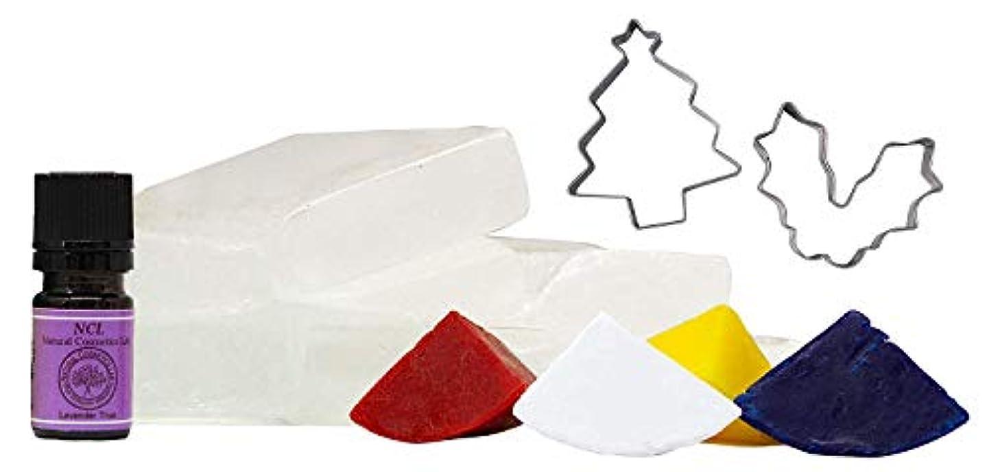 かごぶら下がるまたねグリセリン クリアソープ (MPソープ) クリスマス 限定手作りセット