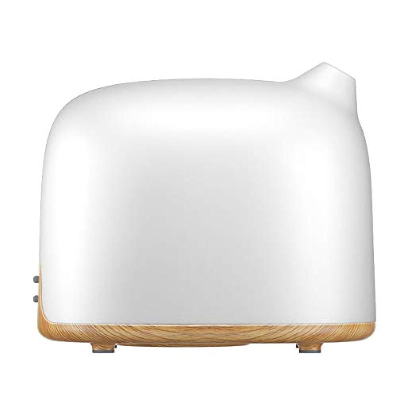 個人的に窒素見せますスマートWi-Fiエッセンシャルオイルディフューザー500 mlアロマセラピー加湿器寝室とオフィスでリラックスした雰囲気のためより良い睡眠&呼吸,Lightwoodgrain,EUplug