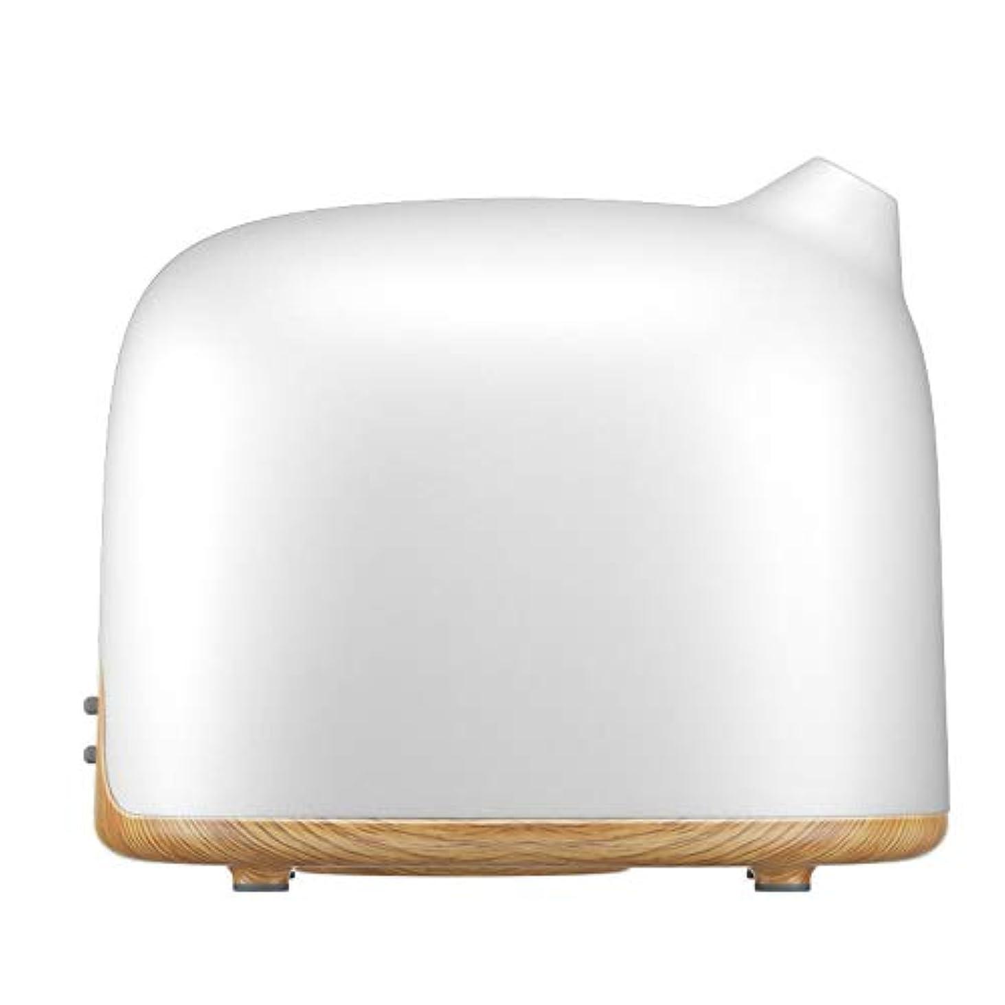 天使放射能補充スマートWi-Fiエッセンシャルオイルディフューザー500 mlアロマセラピー加湿器寝室とオフィスでリラックスした雰囲気のためより良い睡眠&呼吸,Lightwoodgrain,EUplug