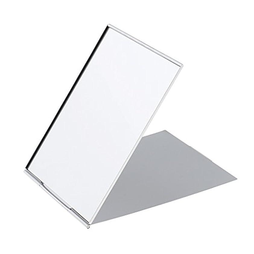 エンターテインメント掘る予算メイクミラー 軽量 折りたたみ ポケット コンパクトミラー トラベル 化粧鏡 全3サイズ - #1