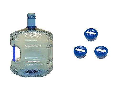 WB-007取っ手付きウォーターサーバー用ガロンボトル容器 シンプルスクリューキャップ3個付き(繰り返し使...