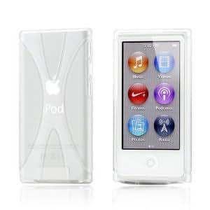 Apple iPod nano 7 デザイン カバー ケース TPU Jelly X Design Case (軽量モデル) アイポッドナノ 2012年 第7世代 iPod nano 7th 対応 + 液晶保護フィルム1枚【Clear X (クリア)】