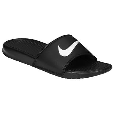 (ナイキ)Nike 17.0 Black/White benassi ベナッシ swoosh スォッシュ slide サンダル 靴 シューズ men's メンズ 男性用 - black ブラック/white 【並行輸入品】