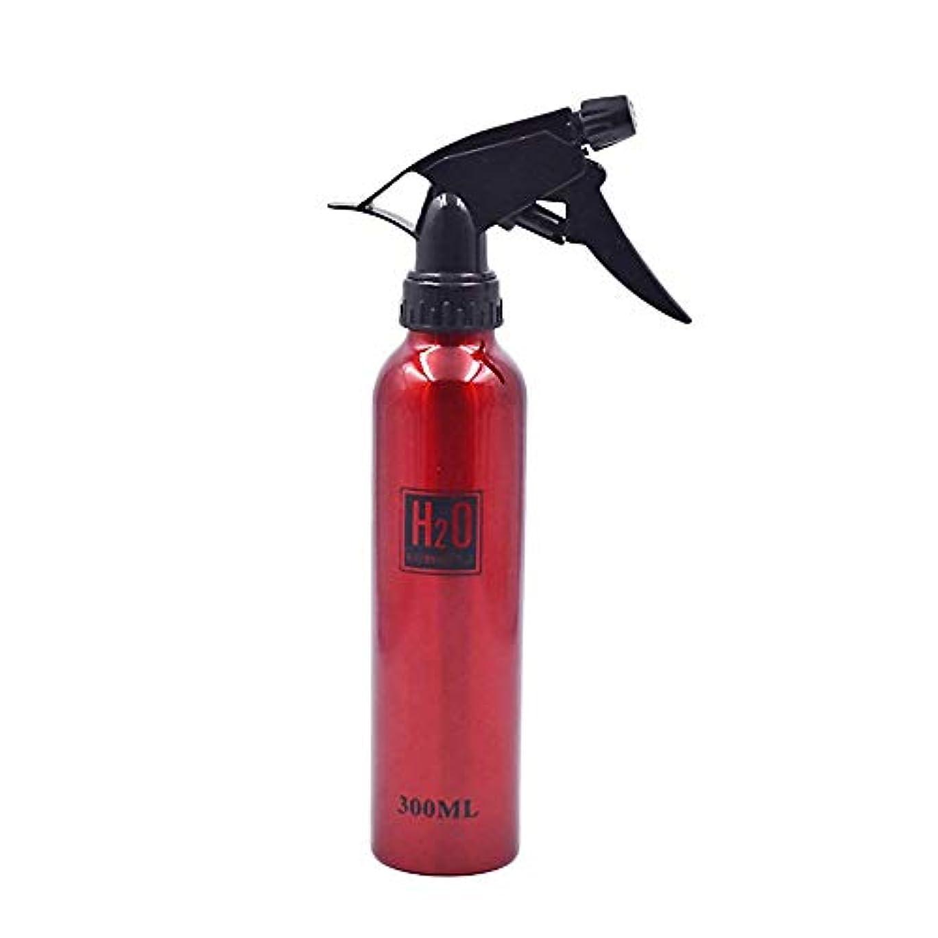 休暇店員輸送Onior 実用 アルミニウム 噴霧瓶 ネブライザー 化粧品 水 サロンヘア 洗剤使用 1枚 (赤 300ml)