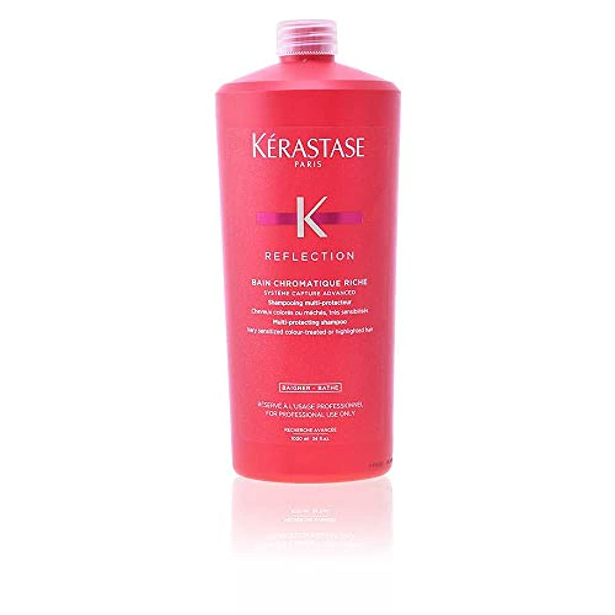 歯科のアブストラクト振るうケラスターゼ Reflection Bain Chromatique Riche Multi-Protecting Shampoo (Very Sensitized Colour-Treated or Highlighted...
