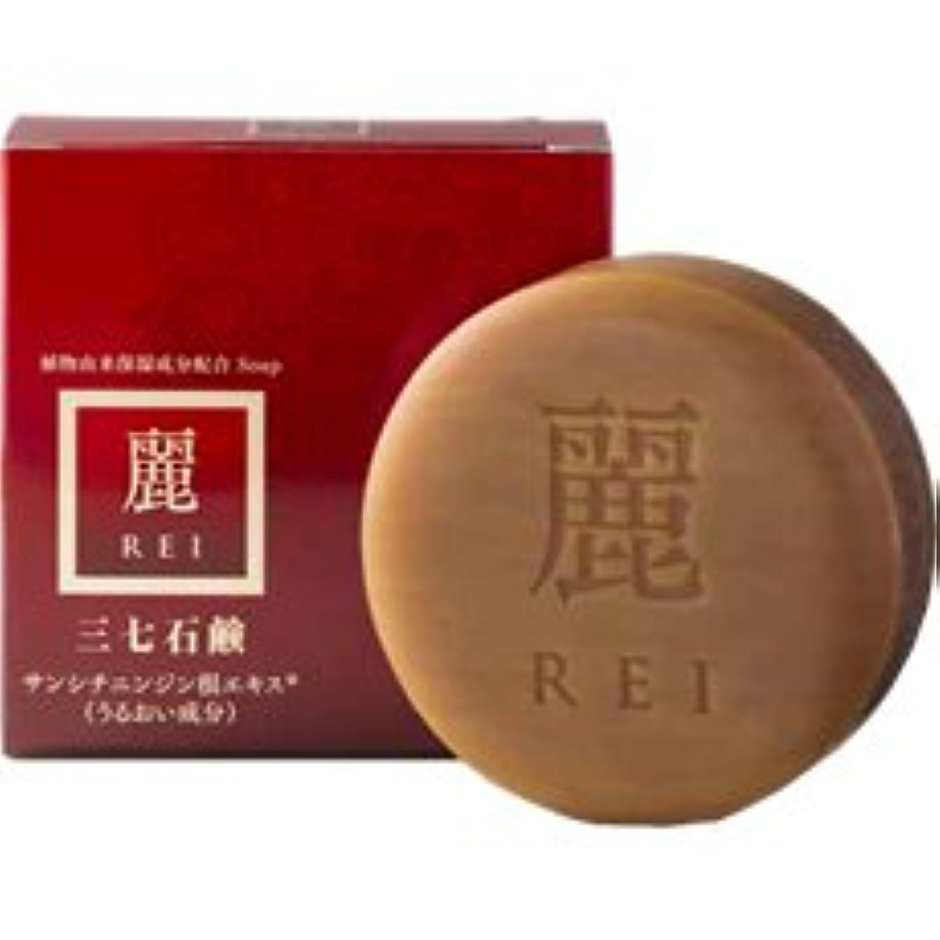文言全能グリーンバック三七石鹸 麗(れい) 100g
