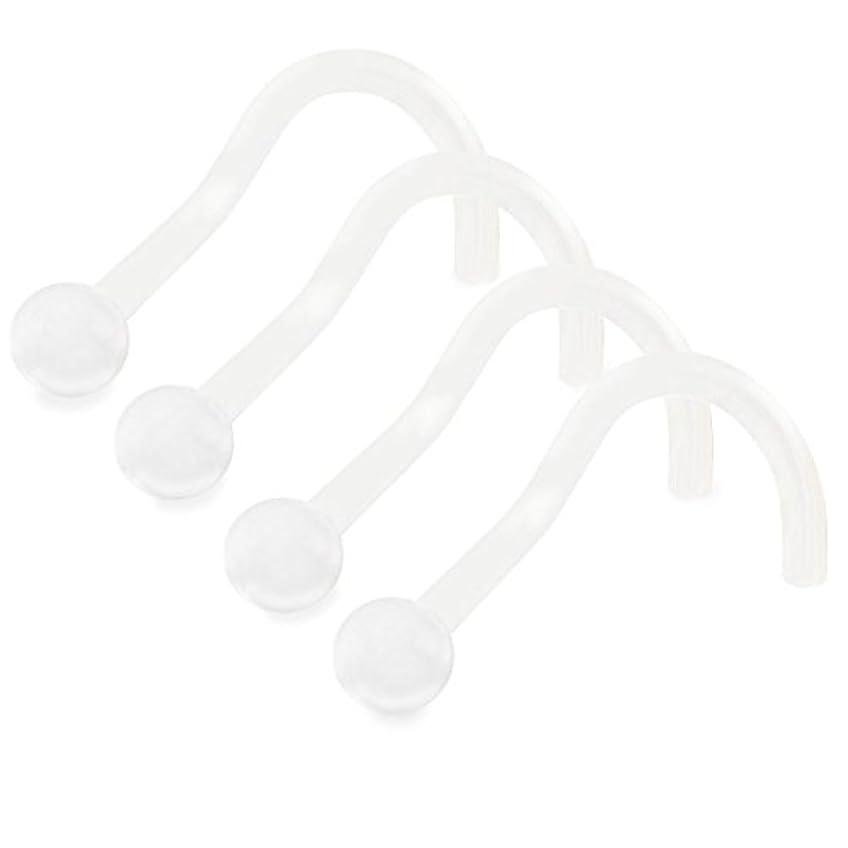 つぼみ顔料シチリア4pcs 20 g鼻ピアスジュエリークリアリテイナーバイオフレックス柔軟な屈曲可能鼻孔ネジフックピアスジュエリー