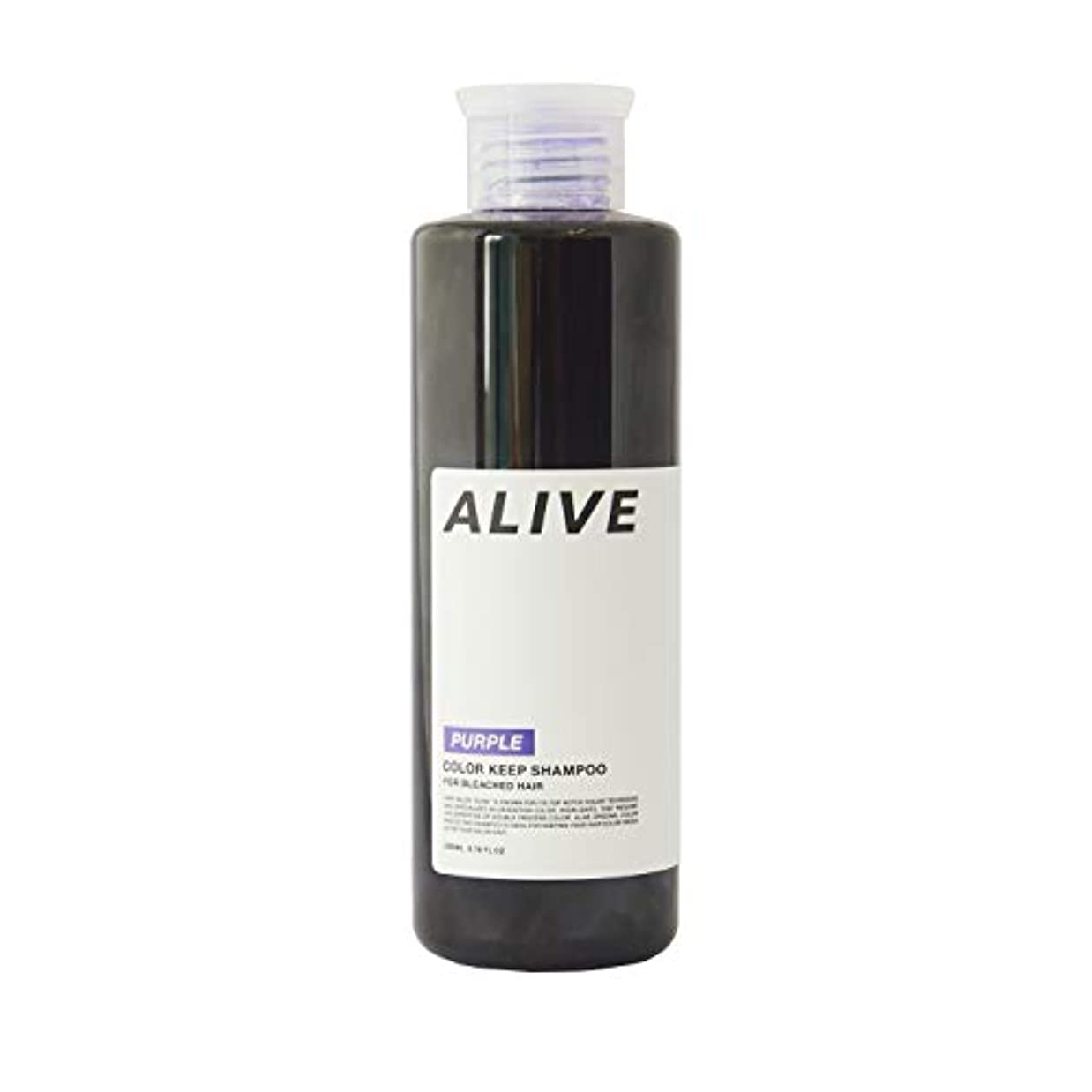 果てしないテラス一貫したALIVE アライブ カラーシャンプー 極濃 紫シャンプー 200ml ムラサキ パープル ムラシャン ムラサキシャンプー
