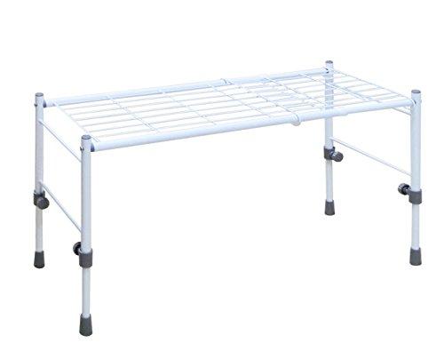 サイズ調整可能なスリム収納棚 ホワイト 高さ幅伸縮タイプ 伸縮高さ29~41cm 伸縮幅54~75cm SCS-26