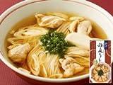 比内地鶏スープで食べる稲庭うどん 醤油味