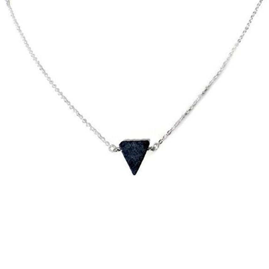 の配列シェトランド諸島定期的Essential Oil Diffuser Necklace Lava stone jewelry [並行輸入品]