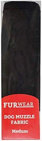 Furwear Dog Fabric Muzzle, Medium, Black