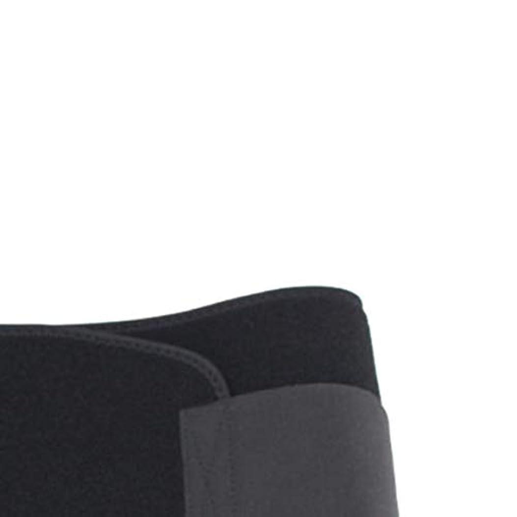決済建物高価な男性女性ウエストおなかスポーツボディシェイパーバンドベルトラップファットバーンスリミングエクササイズ用品ボディシェイピング(黒)