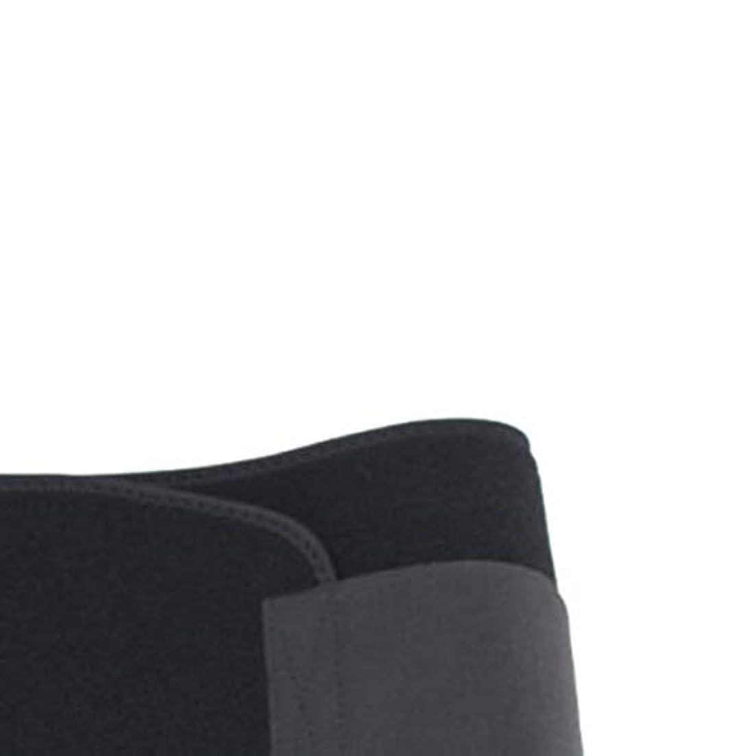 男性女性ウエストおなかスポーツボディシェイパーバンドベルトラップファットバーンスリミングエクササイズ用品ボディシェイピング(黒)