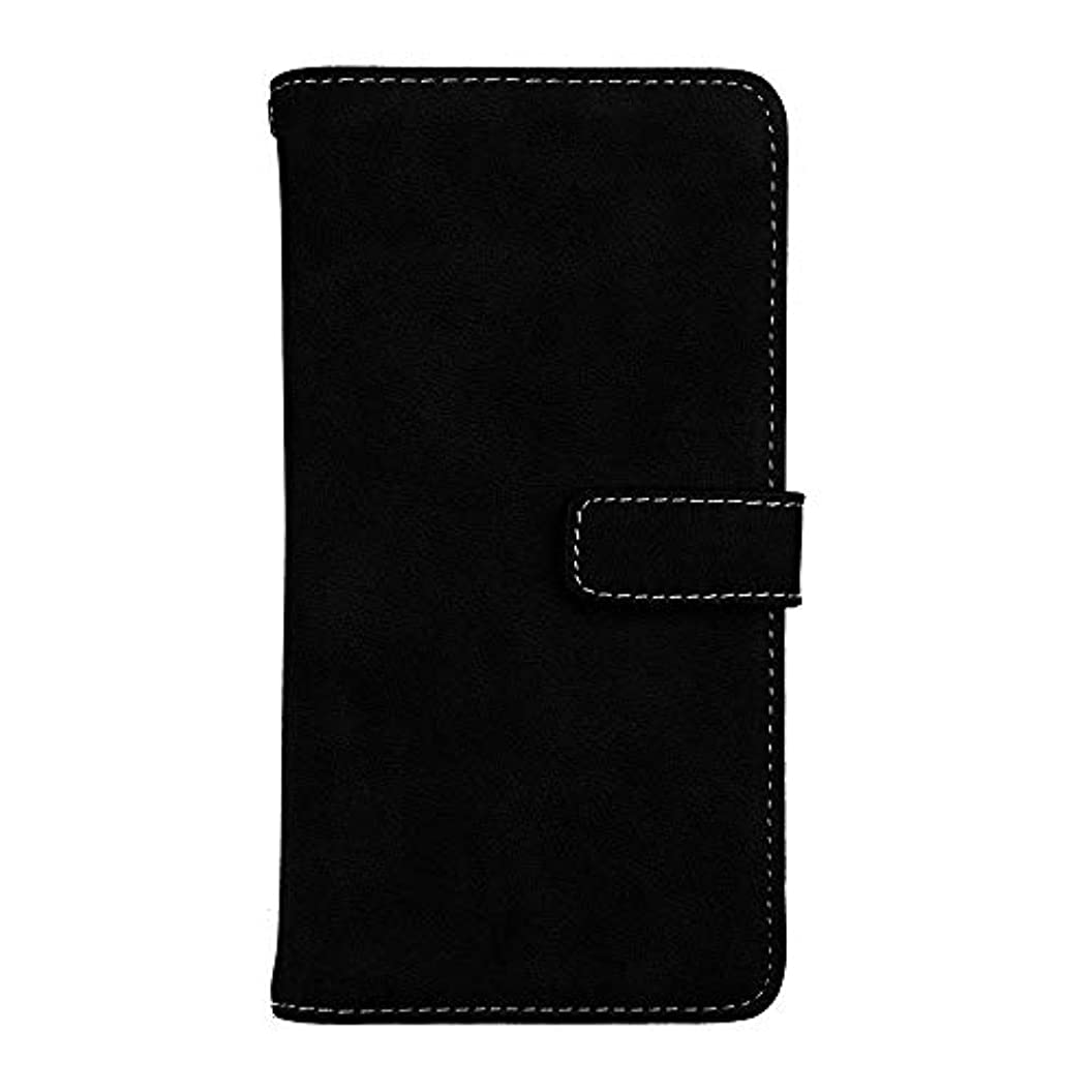 着飾るアンティーク大理石Xiaomi Redmi Note 5 高品質 マグネット ケース, CUNUS 携帯電話 ケース 軽量 柔軟 高品質 耐摩擦 カード収納 カバー Xiaomi Redmi Note 5 用, ブラック