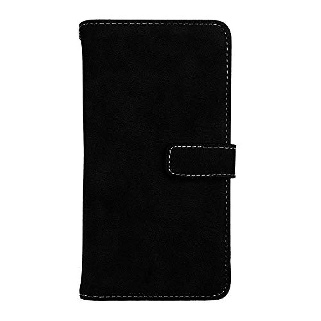 に対応椅子透明にXiaomi Redmi Note 5 高品質 マグネット ケース, CUNUS 携帯電話 ケース 軽量 柔軟 高品質 耐摩擦 カード収納 カバー Xiaomi Redmi Note 5 用, ブラック