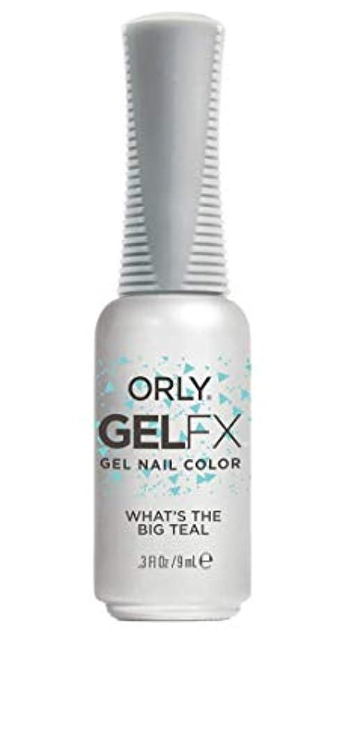 大理石プレゼン贈り物ORLY Gel FX - Euphoria 2019 Collection - What's the Big Teal - 0.3 oz / 9 mL