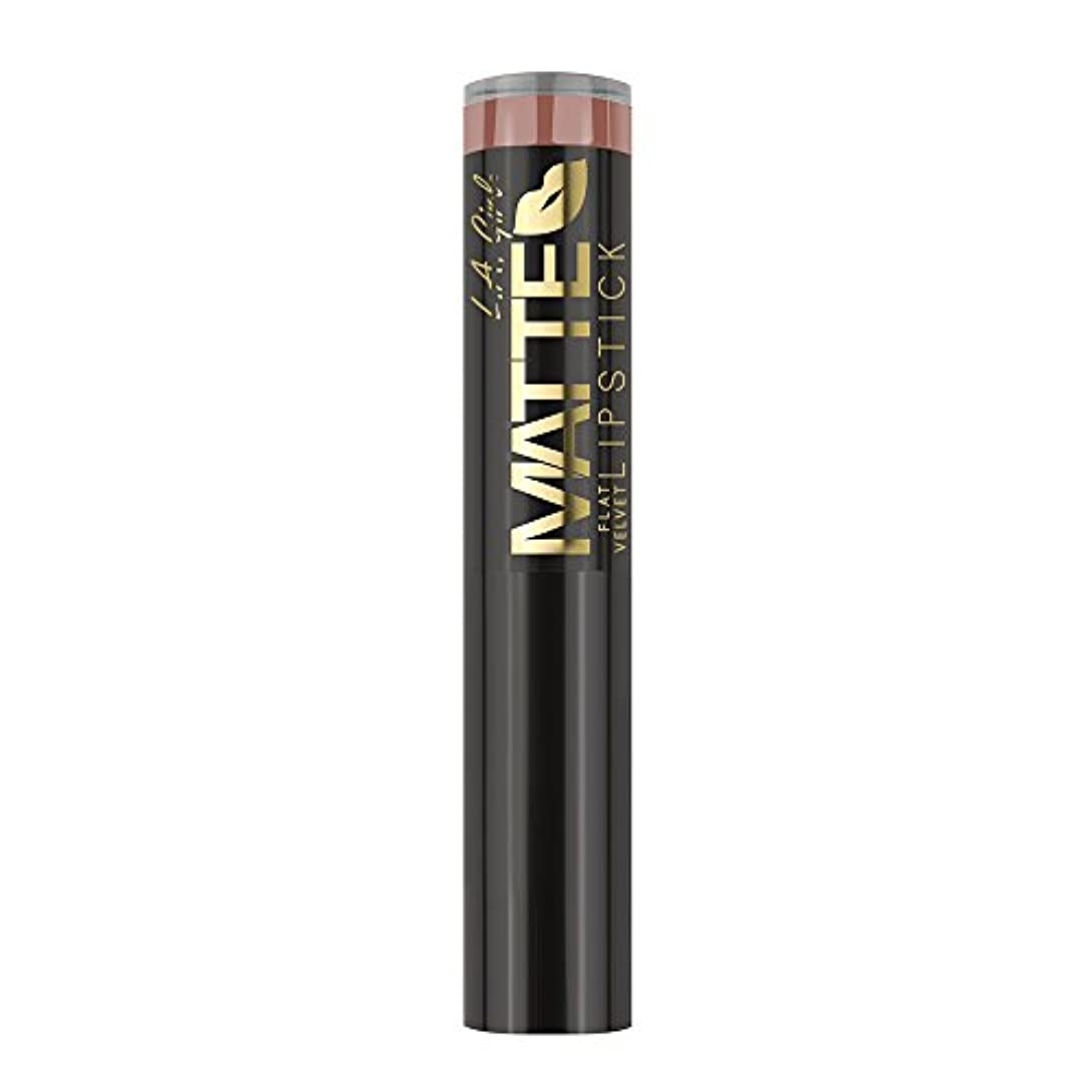 つまずく資本年金受給者L.A. GIRL Matte Flat Velvet Lipstick Snuggle (並行輸入品)