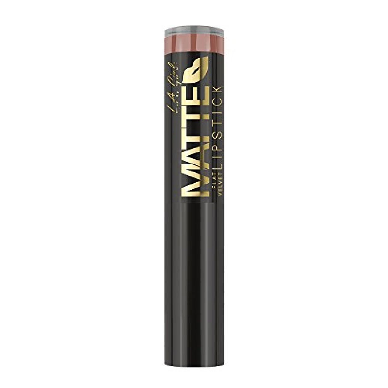やがてふさわしい占めるL.A. GIRL Matte Flat Velvet Lipstick Snuggle (並行輸入品)