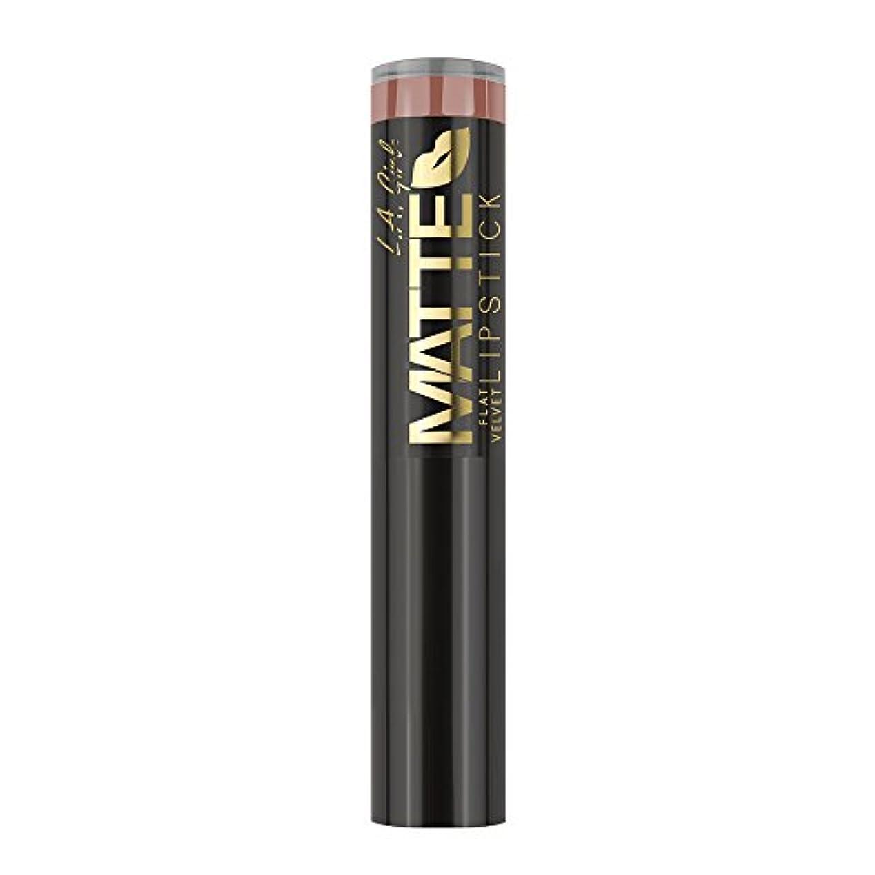忙しい湿気の多いラフL.A. GIRL Matte Flat Velvet Lipstick Snuggle (並行輸入品)
