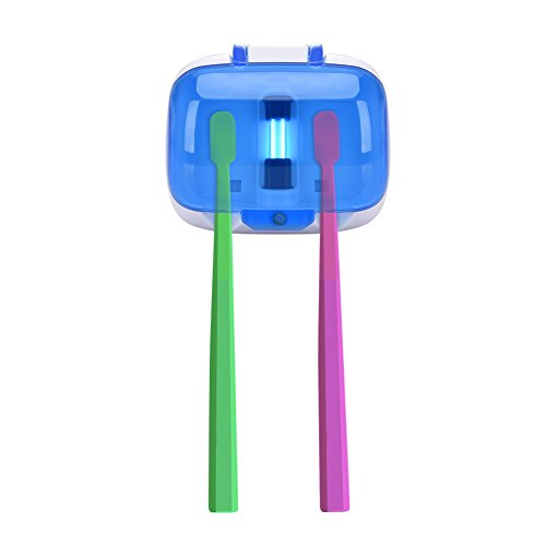 QIN 歯ブラシ 除菌 2本入り 紫外線消毒ケース 吸盤 9...