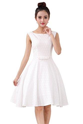 iLover レディース ヴィンテージ ドレス ワンピース パーティー ドレス