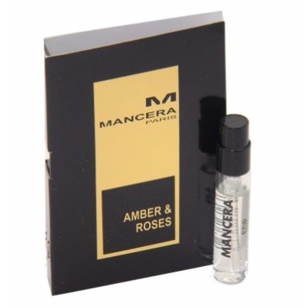 神話原始的な理想的Mancera Amber & Roses EDP Vial Sample 2ml(マンセラ アンバー & ローゼズ オードパルファン 2ml)[海外直送品] [並行輸入品]
