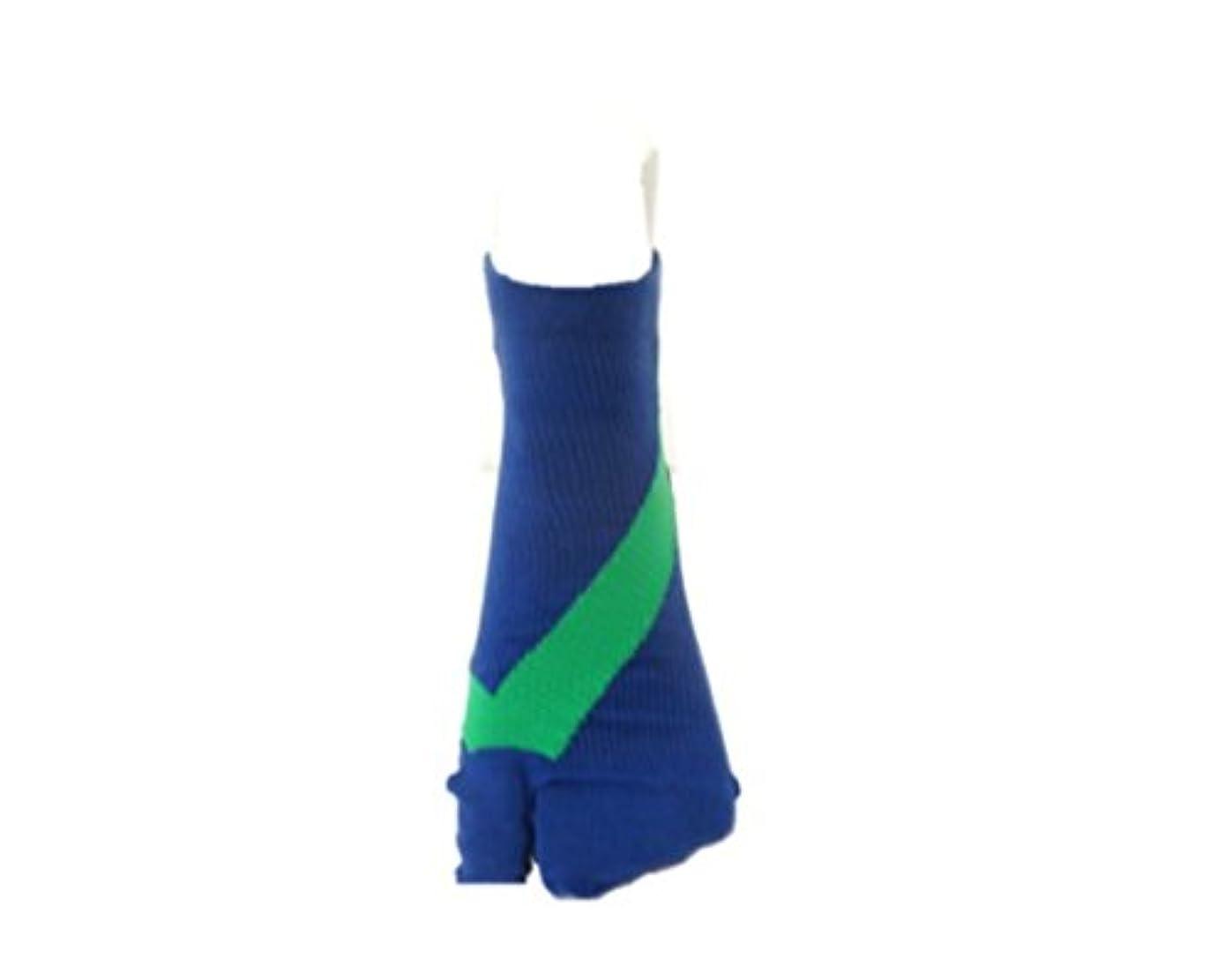 ウェブ失効代表してさとう式 フレクサーソックス アンクル 紺緑 (L) 足袋型