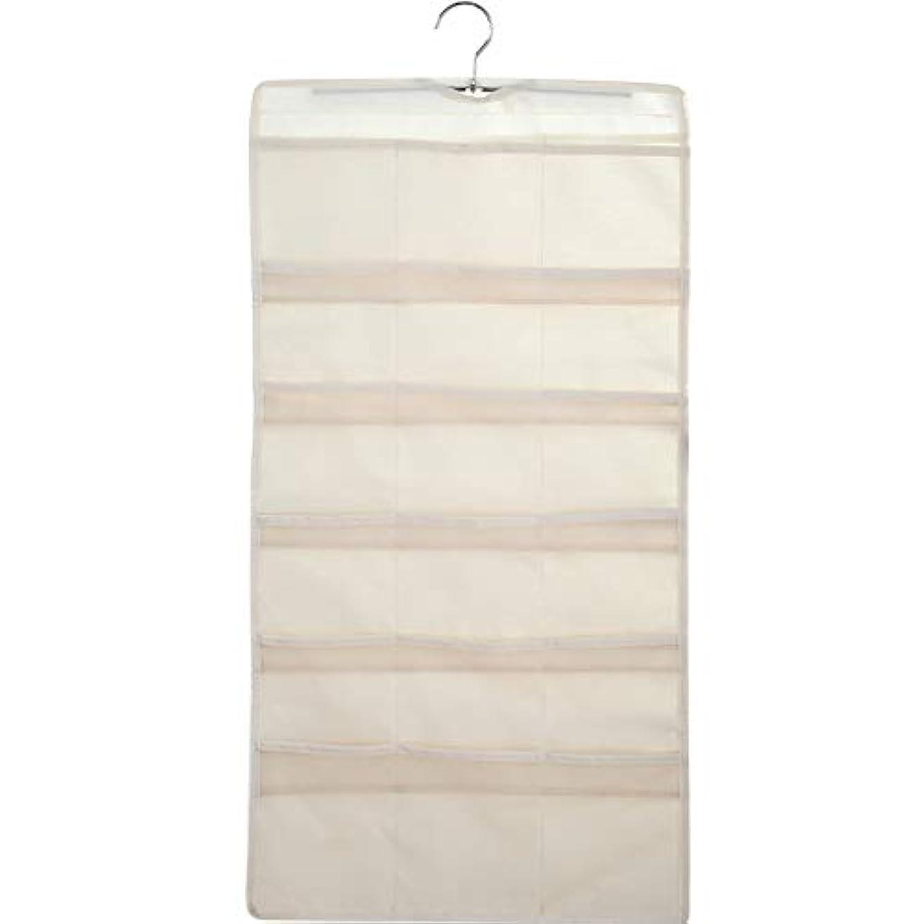 どきどきウッズ放散する大きくて深いポケットが付いている掛かる収納オーガナイザー、小さいワードローブのための両面スペース節約衣服オーガナイザー,A