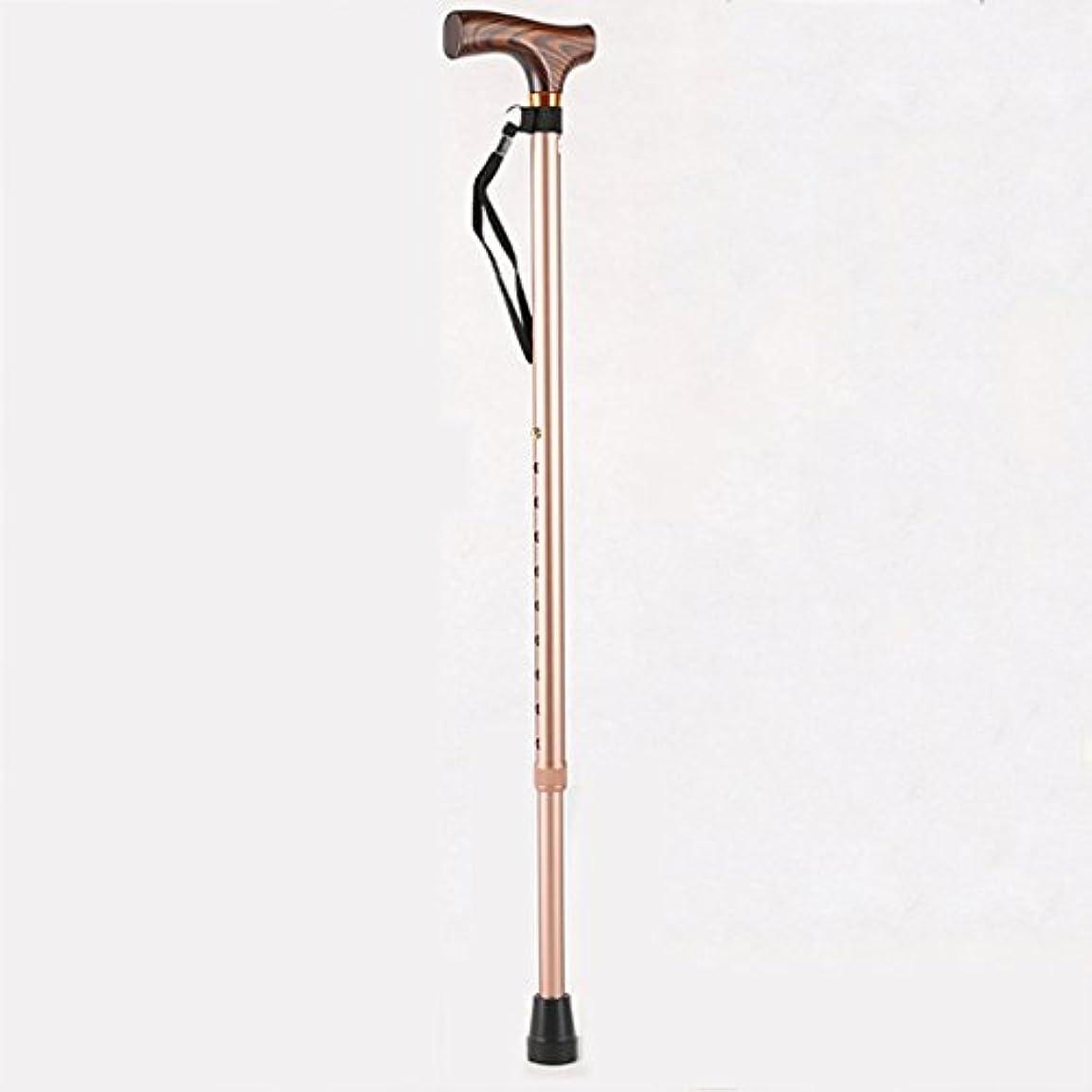 大西洋適切な描く老人ウォーキングスティック伸縮式高さ調整杖ノンスリップ超軽量アルミ合金クラッチホルダートレッキングポール(黒、茶色) (色 : Brown)