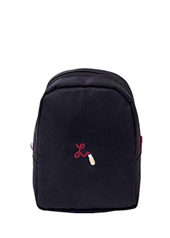 カップルかなりの発表SURCHAR 化粧ポーチ リップ収納 コンパクトポーチ コスメポーチ メイクポーチ 小さい かわいい 外出 出勤 旅行用品 トラベル用品 ポーチ ブラック