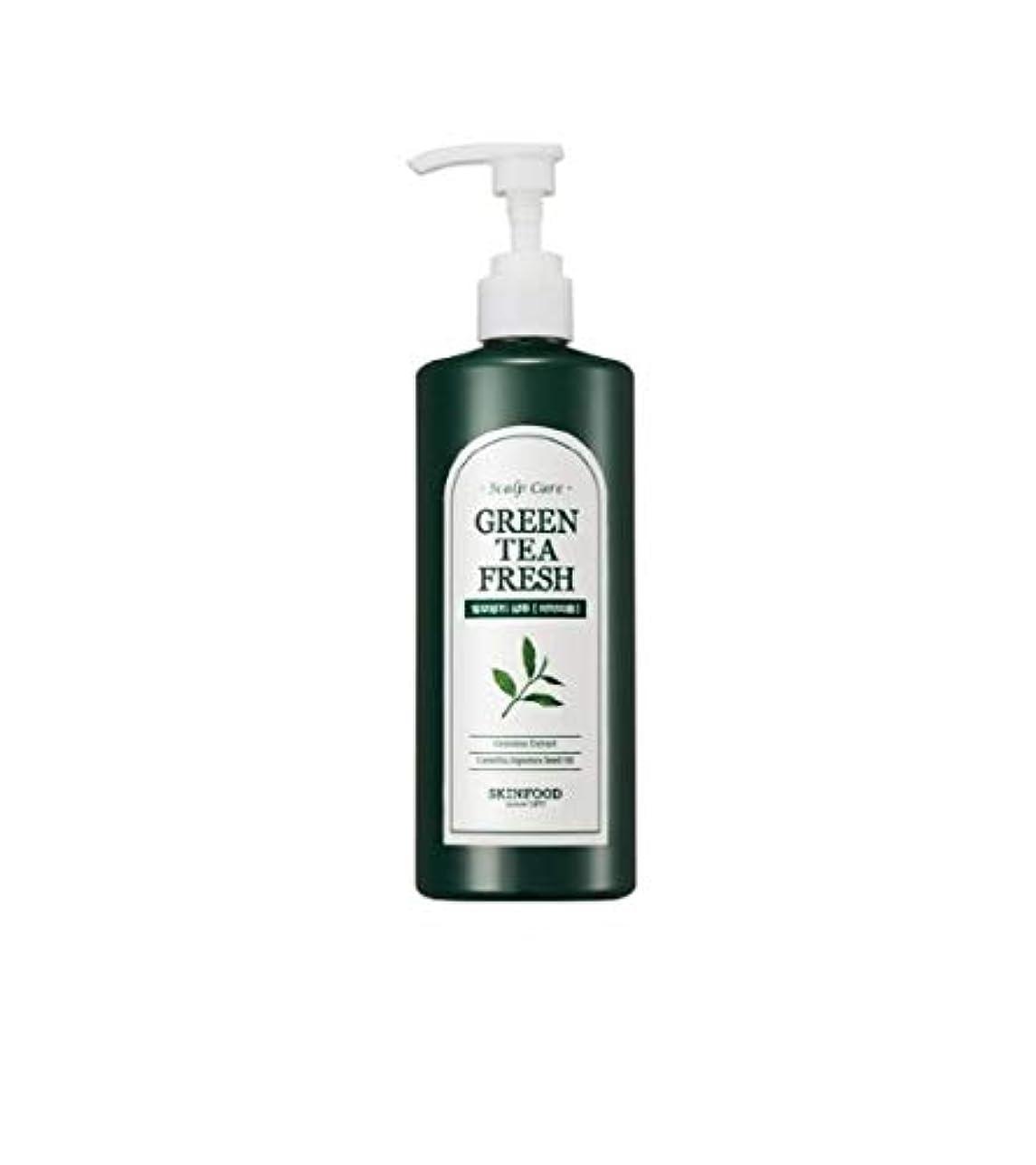 のぞき見イーウェルスクレーパーSkinfood グリーンティーフレッシュシャンプー/Greentea Fresh Shampoo 400ml [並行輸入品]
