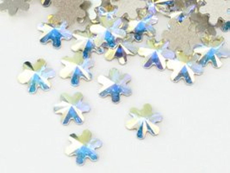 森大理石勤勉スワロフスキー#2826 Rivoli Snowflake FB スノーフレーク クリスタルオーロラ5mm 1粒