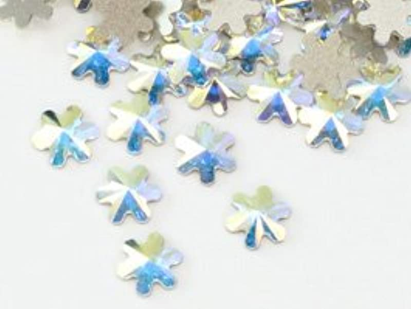 戦う陰謀一貫したスワロフスキー#2826 Rivoli Snowflake FB スノーフレーク クリスタルオーロラ5mm 1粒
