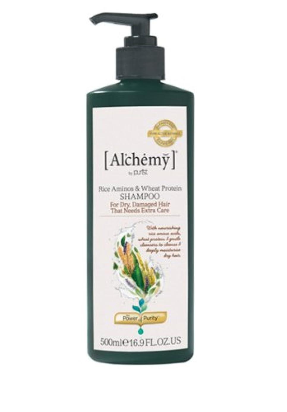 うがい薬競合他社選手服を着る【Al'chemy(alchemy)】アルケミー ライス アミノス モイスチャーシャンプー(Rice Aminos-Intensive Moisture Shampoo)(ドライ髪用)500ml