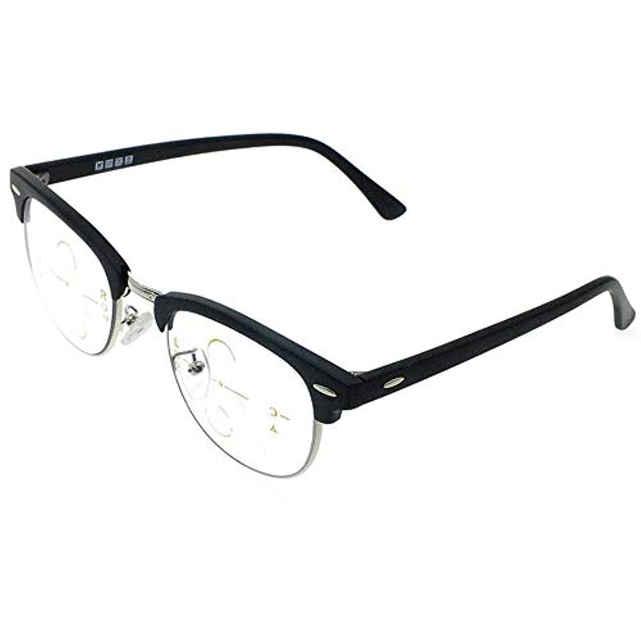 アンチブルー老眼鏡、スマートズームコンピュータリーダー、男性用および女性用ゴーグル用ファッションフレーム、デュアルユース、高解像度コーティングレンズ(+3.0)