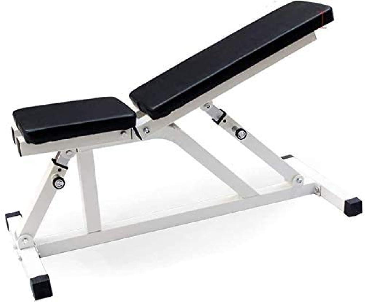失業完全に三HSBAIS 調整可能 ウエイトベンチ、多目的 座って 筋力トレーニング フィットネススツール 全身運動,Black_120*43*40cm