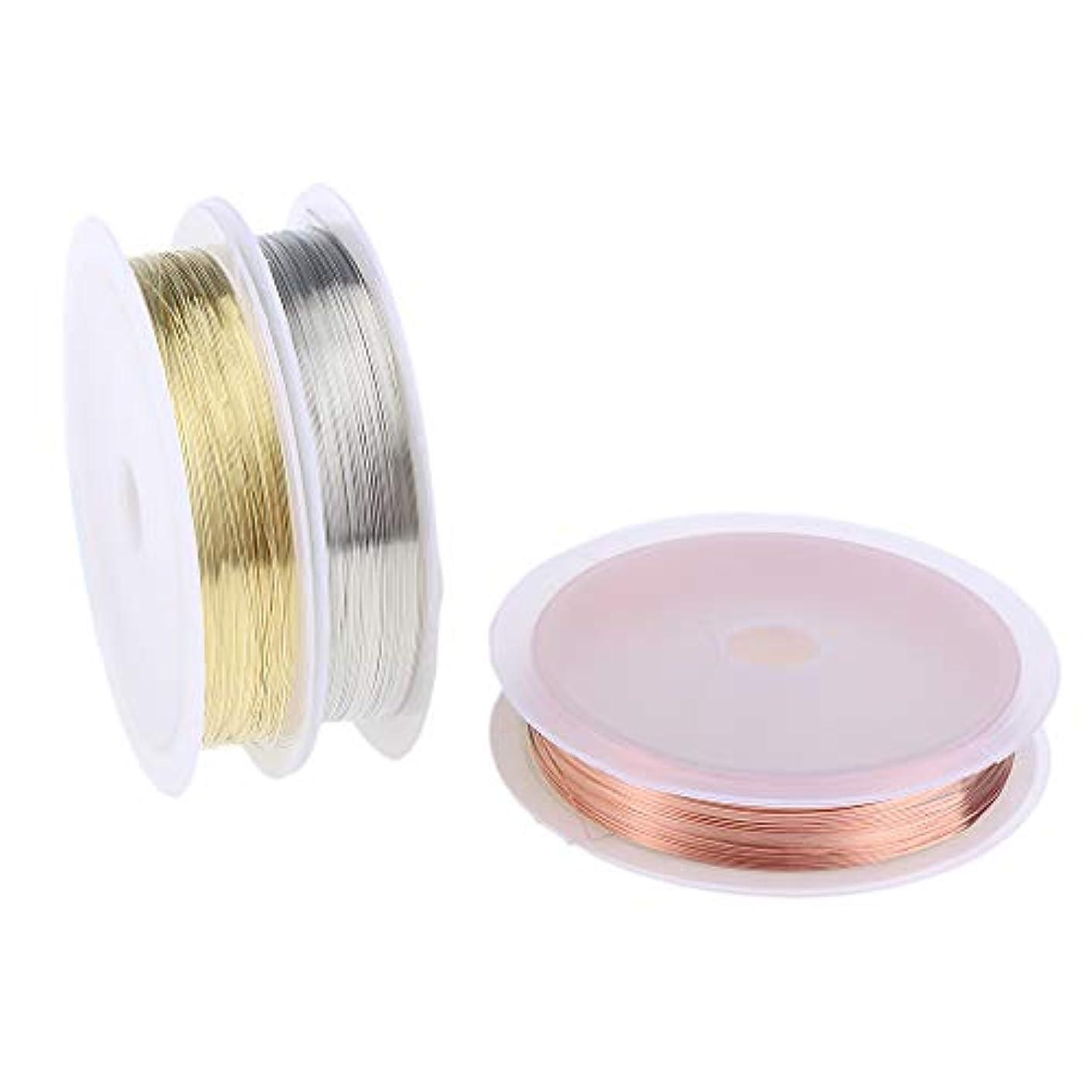 退屈させるモチーフ変形B Blesiya 3本 銅製 ネイル ライン DIY 銅ラインロール ストライピングテープライン