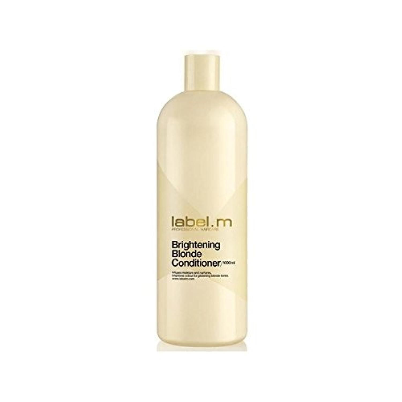 Label.M Brightening Blonde Conditioner (1000ml) (Pack of 6) - .白ブロンドコンディショナー(千ミリリットル) x6 [並行輸入品]