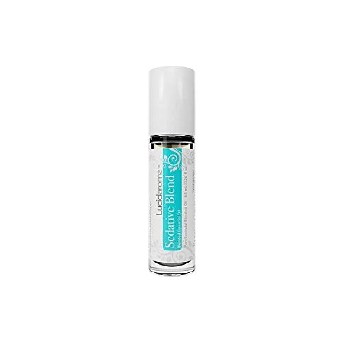 かけがえのない鳴らす狂うLucid Aroma Sedative Blend セダティヴ ブレンド ロールオン アロマオイル 8.5mL (塗るアロマ) 100%天然 携帯便利 ピュア エッセンシャル アメリカ製