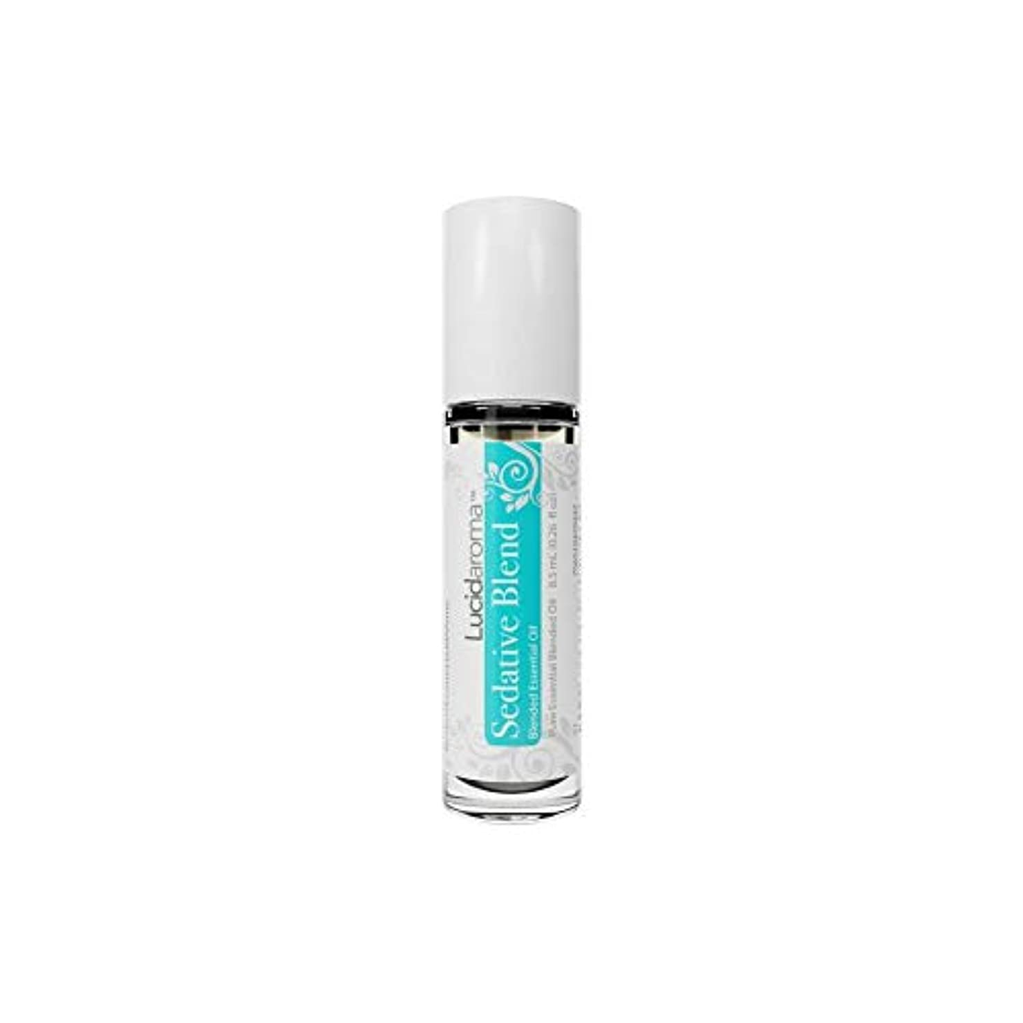 バーターゆるいジョージエリオットLucid Aroma Sedative Blend セダティヴ ブレンド ロールオン アロマオイル 8.5mL (塗るアロマ) 100%天然 携帯便利 ピュア エッセンシャル アメリカ製