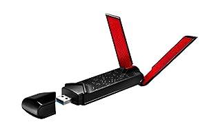 ASUS ギガビット高速Wi-Fi無線LAN子機 11ac/n/a/g/b対応 USB3.0アダプター型 USB-AC68