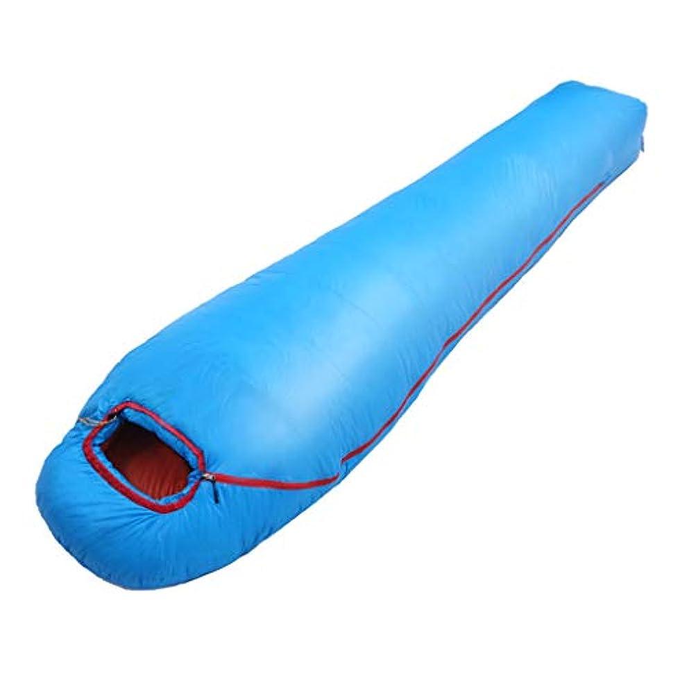 課税宗教傾向があるキャンプのための寝袋キャンプの寝袋大人の寝袋寝袋大人の屋外のキャンプの寝袋冬の旅行暖かい光のキャンプの寝袋 (Color : BLUE, Size : 80*205CM)