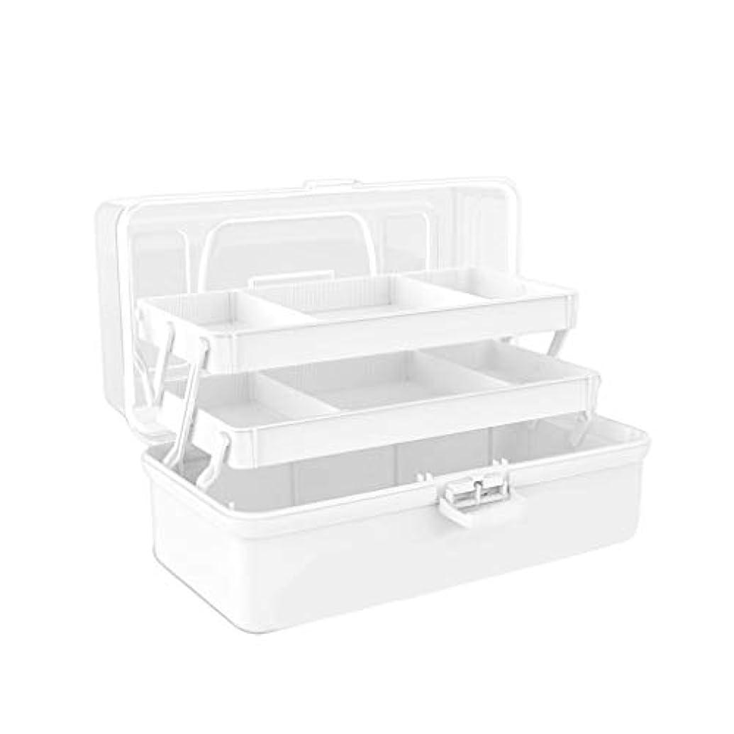 ノベルティ連続的品揃え多層大容量家庭用薬箱薬収納ボックス救急箱 HUXIUPING (Color : White, Size : S)