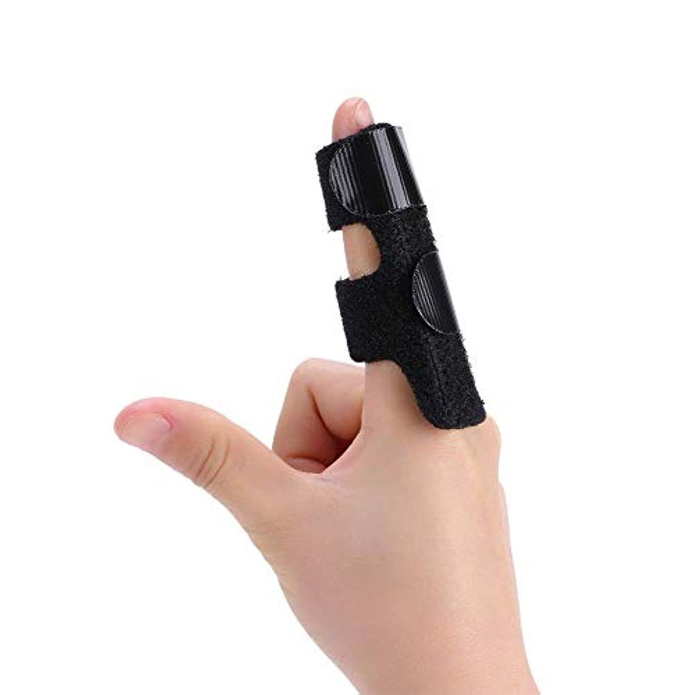 インチ褐色治世ばね指スプリント、指拡張スプリント、内蔵のアルミサポートトリガー、指ナックル固定化のために、指の骨折、傷、術後ケアと痛み - フル指用