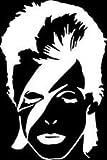 David Bowie Faceビニール車/ノートパソコン/ウィンドウ/壁デカール
